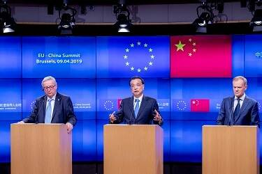 Mr Jean-Claude Juncker, President of the European Commission; Mr Li Keqiang, Prime Minister of China; Mr Donald Tusk, President of the European Council